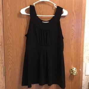 Michael Kors sleeveless black blouse